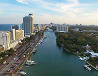 Drone views in Miami architects and developers