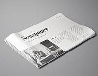 Perspective Newspaper Mockup