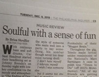 Concert review in the 12.8.15 Philadelphia Inquirer