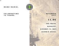 Dank Radio - Continental Room Residency - Flyer Design