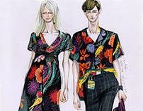 Fashion illustration - Couple Looks