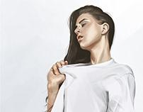 Digital Study - White Shirt