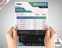 Modern A4 Size Invoice Template PSD