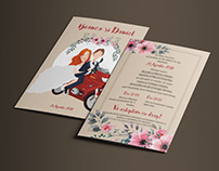 Wedding invitations + Customized illustration
