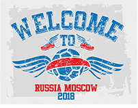 welcome to Russia Moscow WC18 vector art