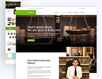 Lawyer web Interface Design