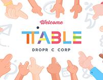 TABLE door sign