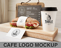 Cafe logo branding Mockup