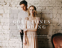 Gold Film Toned Wedding Presets by PhotographersHelper
