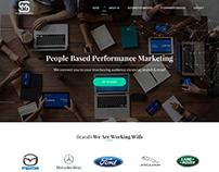 Singer Marketing website design + coding