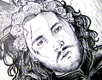 Game of Thrones character Jon Snow - Illustration