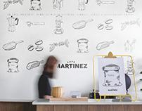 Café Martínez, Wall Illustration