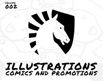 Illustrations: Comics and Promotions Vol. 2
