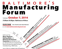 Baltimore Manufacturing Forum flier (preliminary)