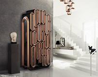 Oblong Cabinet for Contemporary Interior Desi