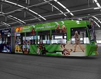 Gestaltung Theaterstraßenbahn