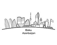 Baku City illustration