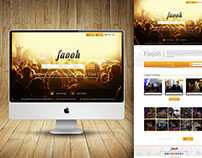 Faqoh-Event Management Company's Website Design