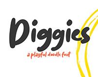Diggies – A Playful Doodle Font