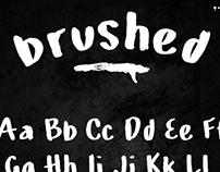Free Brushed Font
