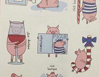 stickers pigs (click-boutique.ru)