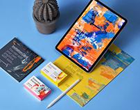 Psd iPad Stationery Branding Mockup