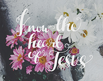 Hand-lettered bible verses for Color Movement