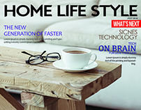 Free Home Life Style Magazine Cover PSD Template