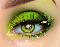 Kiwi Eye Illustration