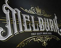 Melburn Paper logo design