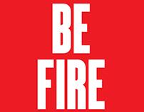 BE FIRE - HeartYoga - Teacher Training Poster
