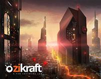 Zikraft - logo, mattepainting, web design