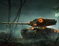 World of Tanks: Mercenaries   Bog Horror