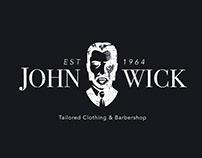 John Wick's Clothing & Barbershop   Logo Design