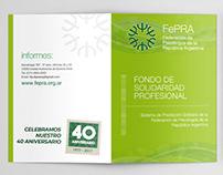 FEPRA » Folleto, banner y presentación animada p/evento
