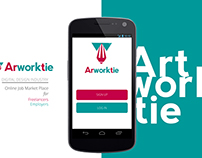 Arworktie Interface Design