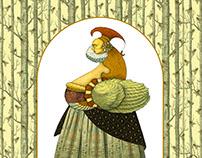"""Ilustraciónes para cuento """"La Reina de los Débiles"""""""