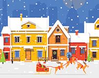 Winter holiday illustrations.