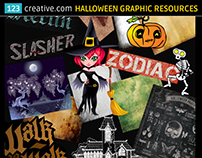 Halloween graphics (vector, texture, layer style, font)