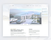 Design mockup for an architect company