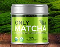 Matcha grade label design.
