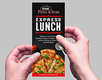 UPTOWN PIZZA & SUBS EXPRESS LUNCH | MENU DESIGN