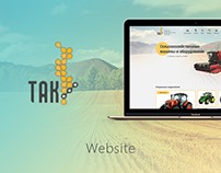 Web Design for tractor sales company
