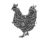 Chicken Calligraphy