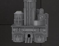Futuristic Castle 3D Model