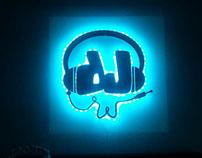 DJ logo for neon light
