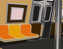 Vector NYC Commute Backgrounds