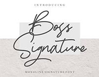 Free Font: Boss Signature