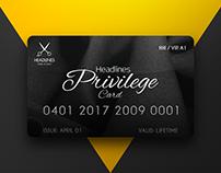 Privilege card for Headlines Hair Studio