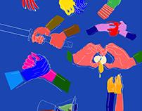 Illustration series for Open Oakland